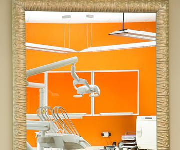 Pogled na zobozdravniški stol